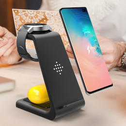10W 3 In 1 QI Wireless Charger