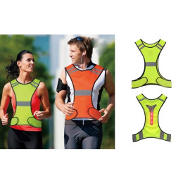 Be extra visible in traffic with a smart reflective vest with LED lights on the back