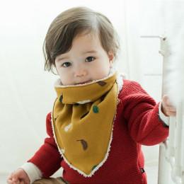 Hot Baby Thick Warm Triangle Scarf Saliva Towel Feeding Bib Toddler Fashion Soft Burp Cloths  Infant Winter Plus Velvet
