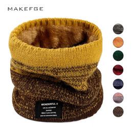 Scarf men/women winter warmth ring bib velvet letter label gradient bib  In order to protect the neck and ears plus velvet thick