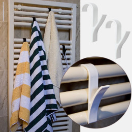 Hanger For Heated Towel Radiator Rail Clothes Hanger Bath Hook