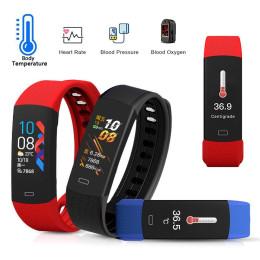 B6W Waterproof Body Temperature Blood Pressure Monitoring Sports Smart Bracelet