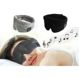 Wireless Bluetooth Headphones & Sleep Eye Mask - Grey or Black