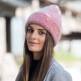 New simple Beanie Hat for Women Winter Skullies Warm Cap Gorros Female Cap