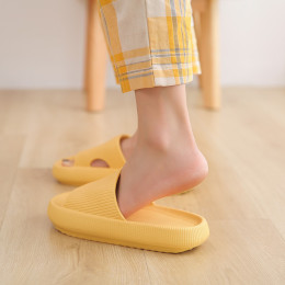 Couple sandals and slippers household ladies and man summer indoor non-slip bathroom home deodorant mute increase thick-soled slippers