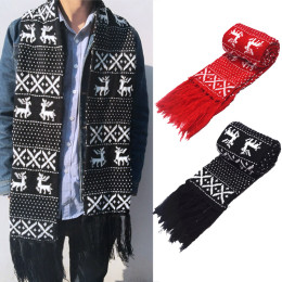 Vintage Christmas Scarf For Men Women New Unisex Warm  Scarves  Autumn Winter Fit Lovers Knitting Long Scarf Wraps Gift