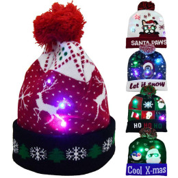 Hat with Christmas lights