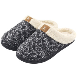 winter slippers Fur Keep warm Home Indoor slippers Non slip