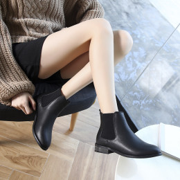 Chelsea boots all-match flat thick heel boots