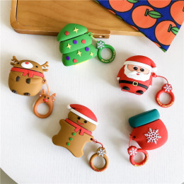 Christmas Protective Case for Apple Bluetooth Earphone Case Christmas series cute cartoon protective For AirPods case with Hooks