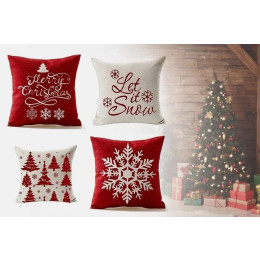 Pillowcase with Christmas motif 4-pack