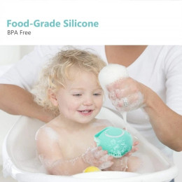 Bathing artifact-silicone bath brush (just a gentle squeeze for bathing)