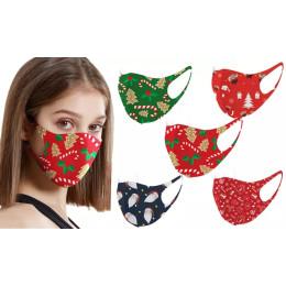 Christmas-Themed Face Mask