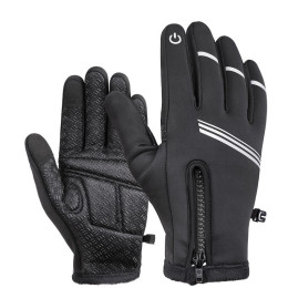 Fleece gloves with touch screen