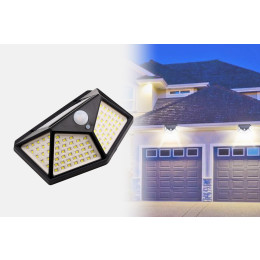 Solar powered wall lamp with motion sensor With 100 LEDs