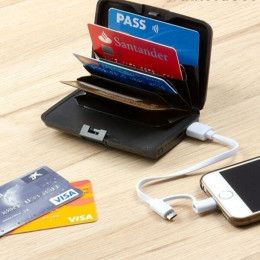 Powerbank and RFID card holder - your security!