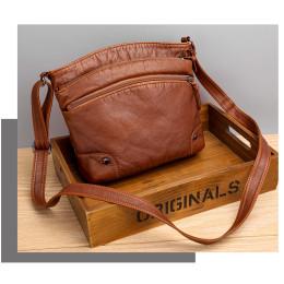 Messenger bag women's wild ladies bag leather texture large capacity