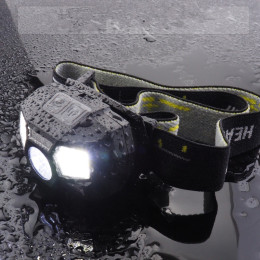Smart, rechargeable headlamp. Perfect for running, cycling and outdoor activities in the cold months.
