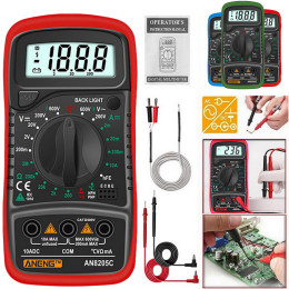 Portable 8205c digital multimeter ac / dc ammeter volt ohm tester multimeter meter with lcd thermocouple backlight