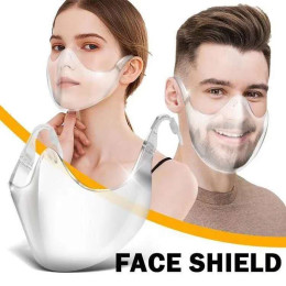 Anti-pm2.5 Protective Mask Transparent Mouth Cover Durable Mask  Face Shield Combine Plastic Reusable Clear Face Masks