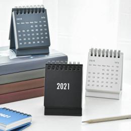 2021 Simple Black White Grey Series Desktop Calendar Dual Daily Schedule Table Planner Yearly Agenda Organizer Office
