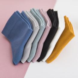 New Women's Bamboo Fiber Colorful Fashion Casual Harajuku Solid Color Black White Cheap Socks Wholesale 5 Pairs
