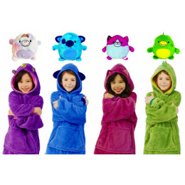Wearable Cuddly Pet Hoodie - Red, Purple, Green or Blue!