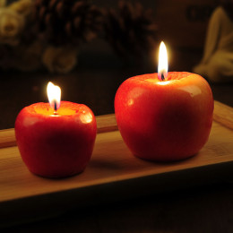 Creative Simulated Apple Candle Christmas Ornament Decoration Fruit Form New Christmas Gift Home Decoration dropshipping