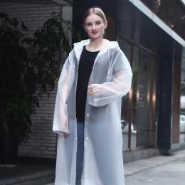 Fashion Thickened EVA Raincoat Women Outdoor Portable Waterproof Rainware Women Rain Jacket Poncho for Travel