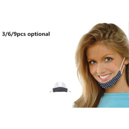 New smart and handy visor  masks Printed pattern-3/6/9pcs optional