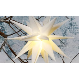 LED outdoor light in star design in white or red ,with cable.