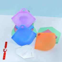 Portable Silicone Face Mask Storage Box Moistureproof Dustproof Case Organizer Cover Holder Travel