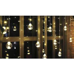 Light chain with Christmas balls