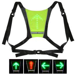 LED Wireless Cycling Vest 20L MTB Bike Bag Safety LED Turn Signal Light Vest