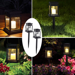 New product solar candle hanging light solar copper wire hanging light garden decorative light