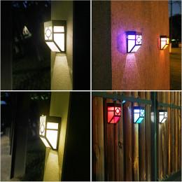 Solar Retro Wall Lamp Solar Panel Lamp Outdoor Rain Proof Lighting Small Wall Lamp Square Lamp Wall Lamp