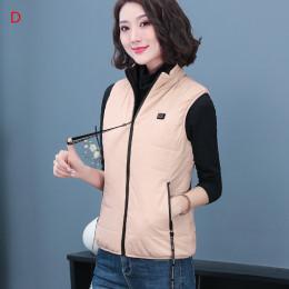 2021 Winter Usb Heating Vest Women Reversible Wear Heating Jacket Black Coat Causual Outdoor Fashion Heated Jacket For Female