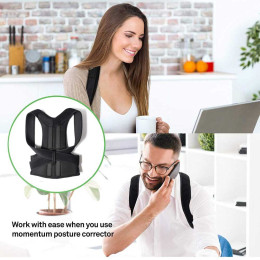 Adjustable Posture Corrector Corset Breathable Back Support Shoulder Lumbar Brace Support Straight Corrector for Men/Women
