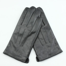 Leather gloves made of genuine sheepskin