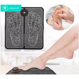 Electricos foot massager electric tens electrodes terapia masajeador pie Mat Circulation Feet Reflexology Deep Kneading relax