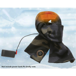 Smart heating warmth and cold protection thick knitted electric heating scarf with USB