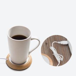 USB Cup Warmer Coaster Coffee Mug Pad Warmer Home Office Table Mat Milk Tea Drink Placemat Heater