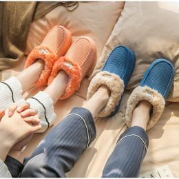 Winter Fluffy Slippers Women Warm Ladies Warm Plush Platform Footwear Woman Slip On Home Shoes Couple Anti Slip Female Slipper