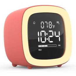 Kids Alarm Clock Cute-TV Night Light Alarm Clock for Children Desk Clock Rechargeable Battery Operated