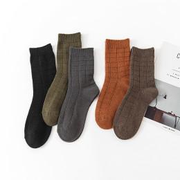Socks men's Japanese spring, autumn and winter men's double needle checkered ins trend tube socks long socks wild gentleman socks