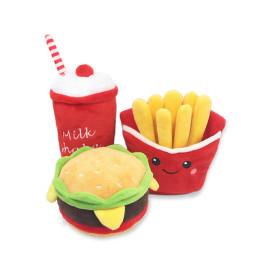 Hamburger pet plush toy Voice toy