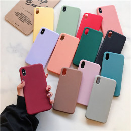 Soft Silicone Case For iPhone 12 MAX  11 Pro XS Max XR X 10 8 7 6 6S Plus 7Plus 8Plus 6Plus Fashion Candy color Couples Cover