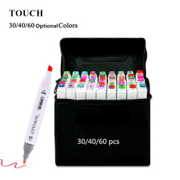 30/40/60 Color Markers Set Manga Drawing Markers Pen Alcohol Based Sketch Felt-Tip Twin Brush Pen Art Supplies