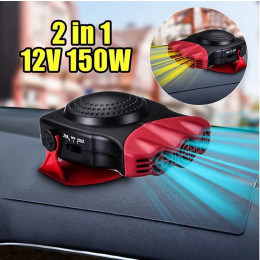 2-in-1 car heater for 12 volts