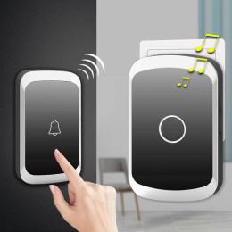 Wireless doorbell receiver battery button EU plug home doorbell 150-300m remote
